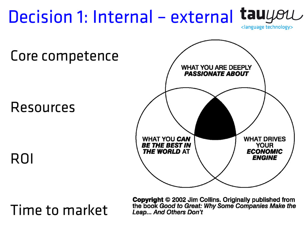 Decision 1: Internal – external Core competence...