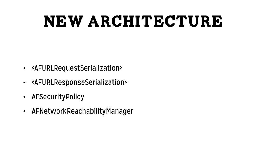 New Architecture • <AFURLRequestSerialization> ...