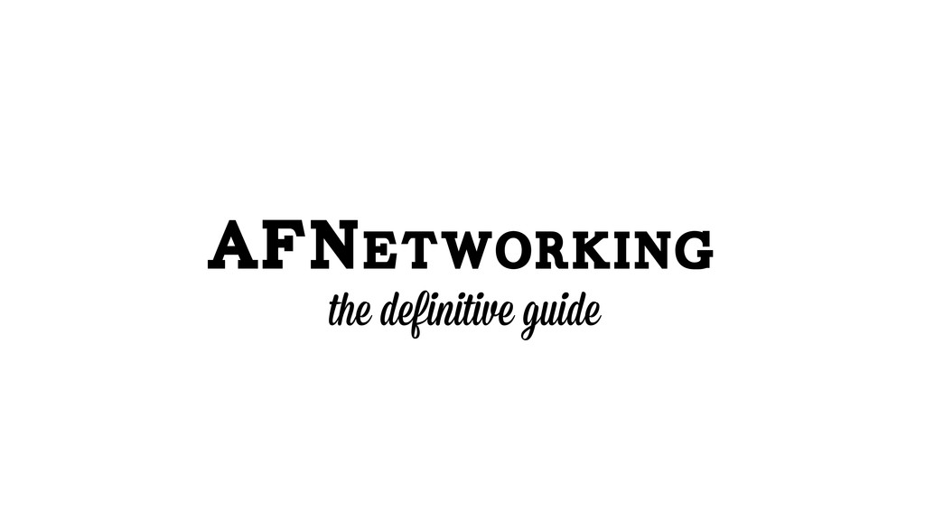 AFNetworking the definitive guide