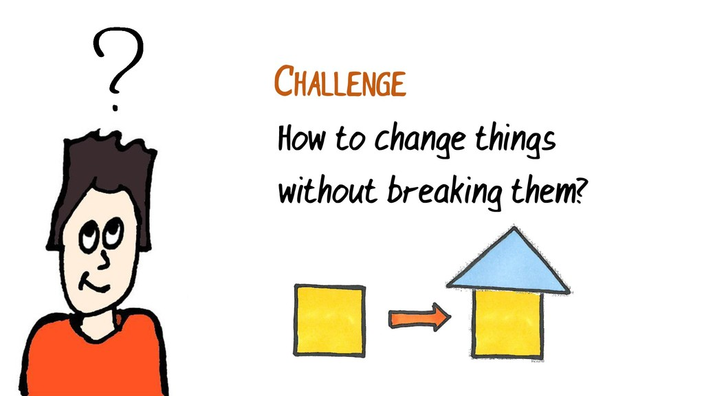 CHALLENGE How to change things without breaking...