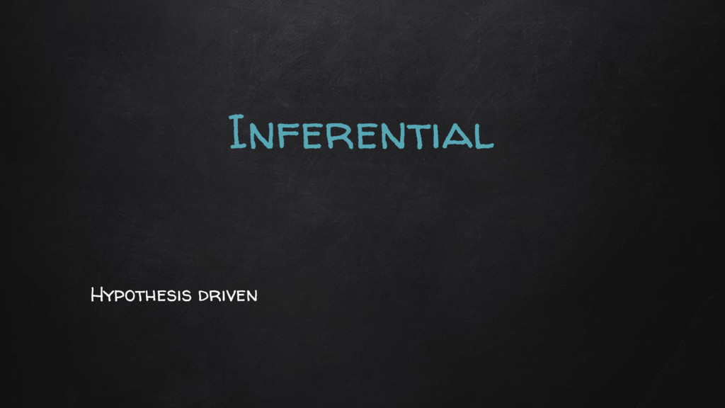 Inferential Hypothesis driven