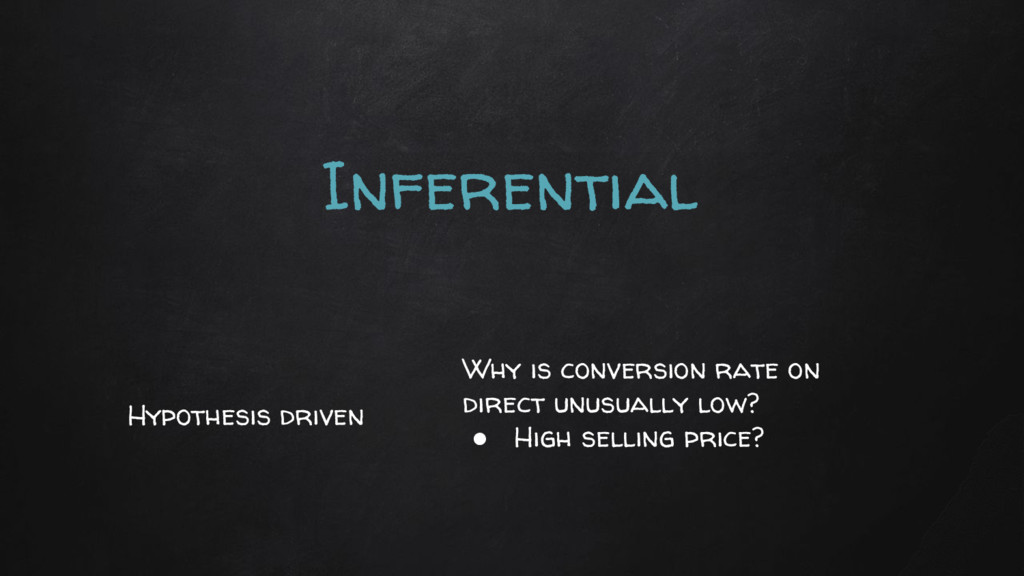 Inferential Why is conversion rate on direct un...