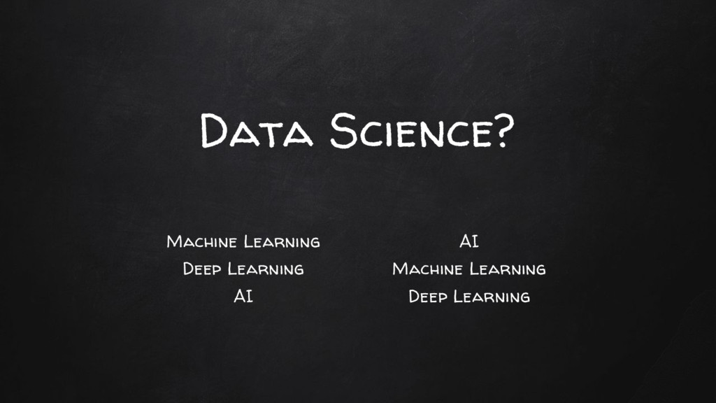 Machine Learning Deep Learning AI Data Science?...