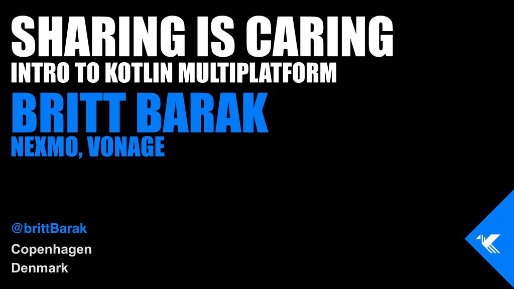 Copenhagen Denmark SHARING IS CARING INTRO TO K...