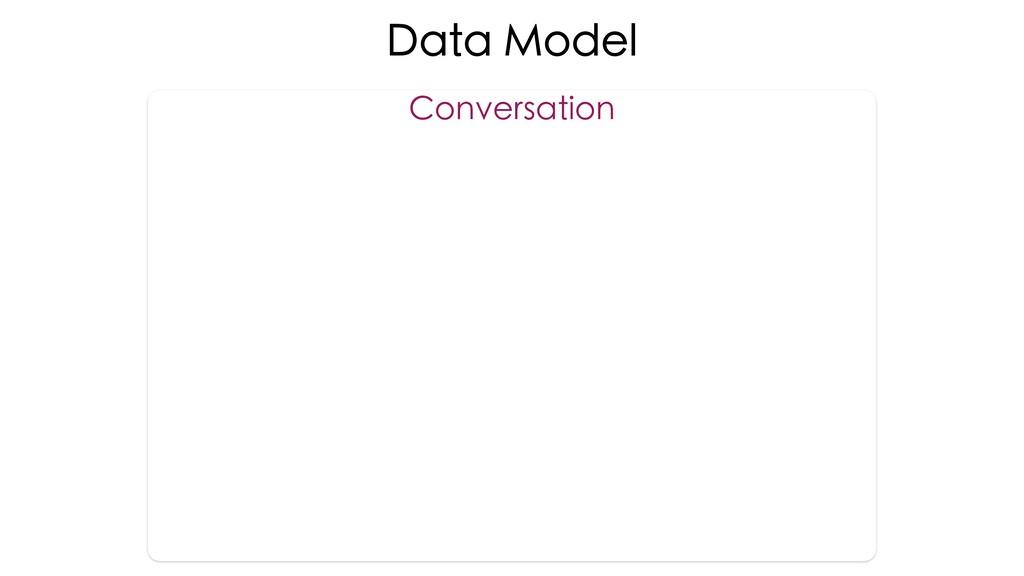 Data Model Conversation
