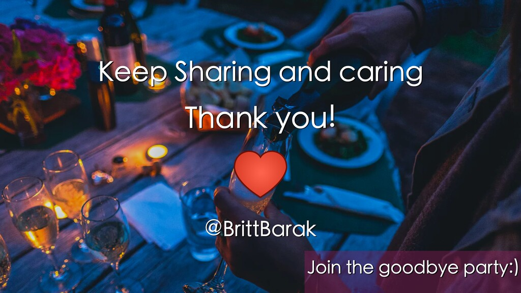 Keep Sharing and caring Thank you! @BrittBarak ...