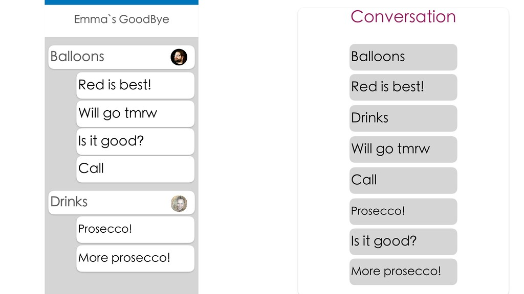 Conversation Drinks Balloons Red is best! Will ...