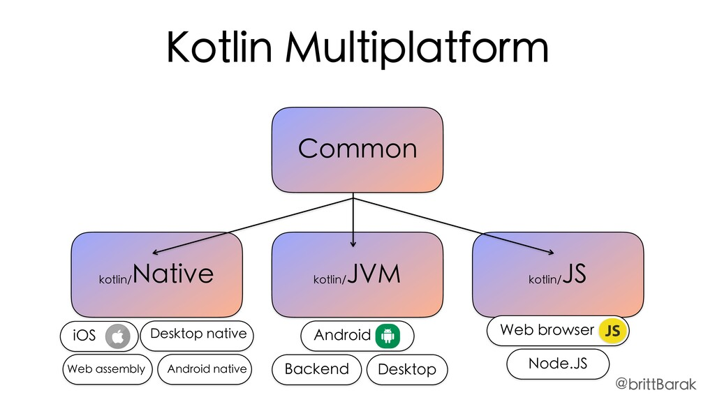 Common kotlin/ JVM kotlin/ JS kotlin/ Native Ko...