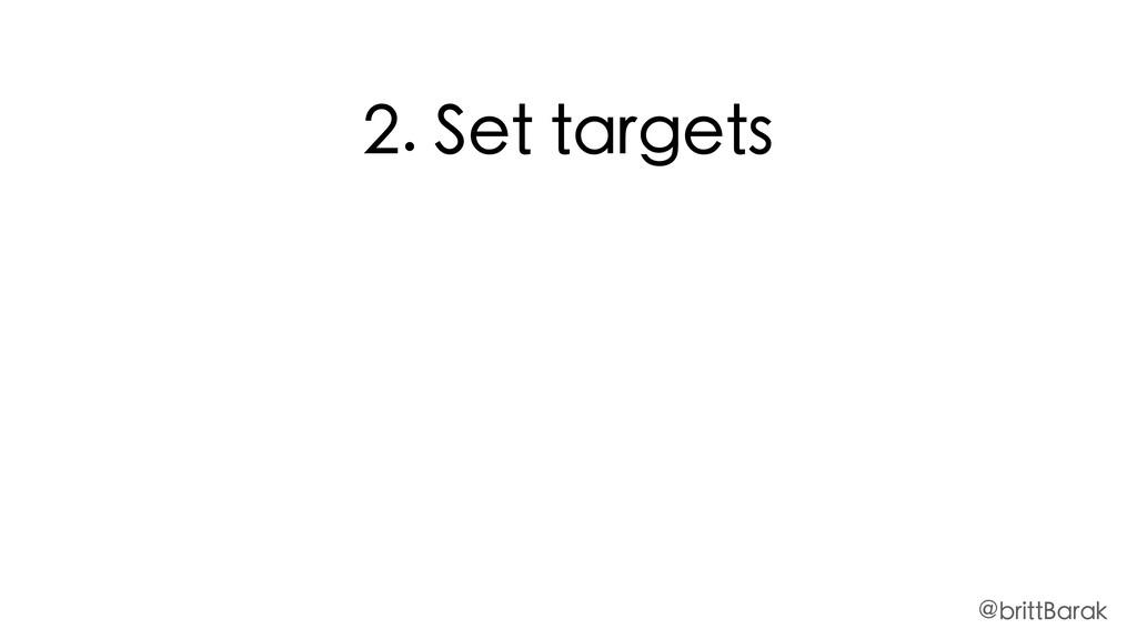 2. Set targets @brittBarak