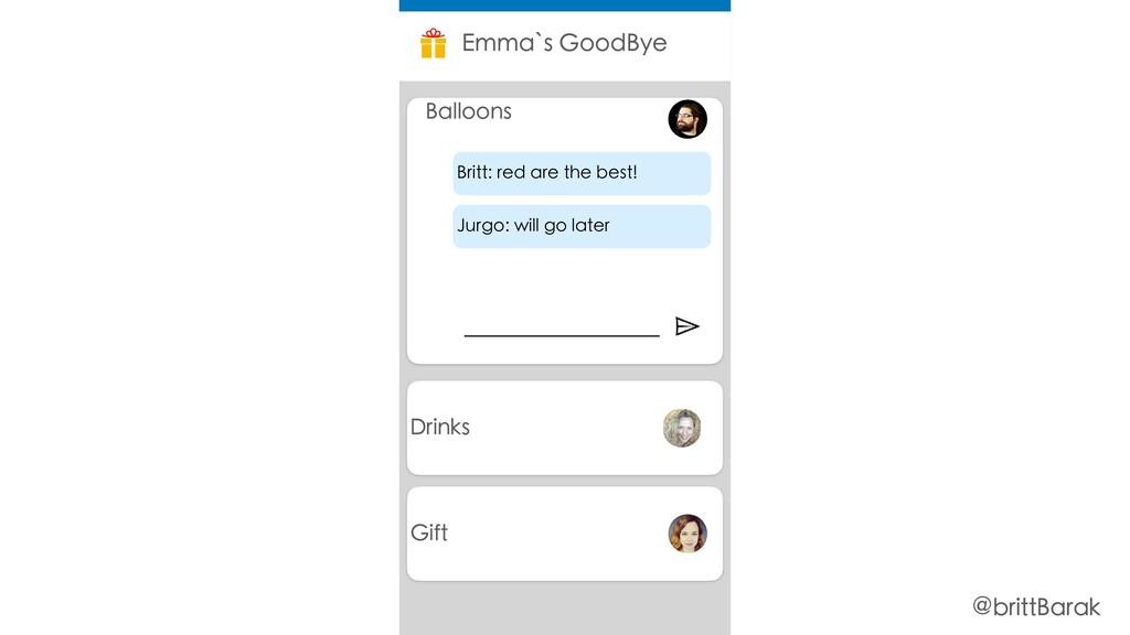 Drinks Emma`s GoodBye Balloons Jurgo: will go l...