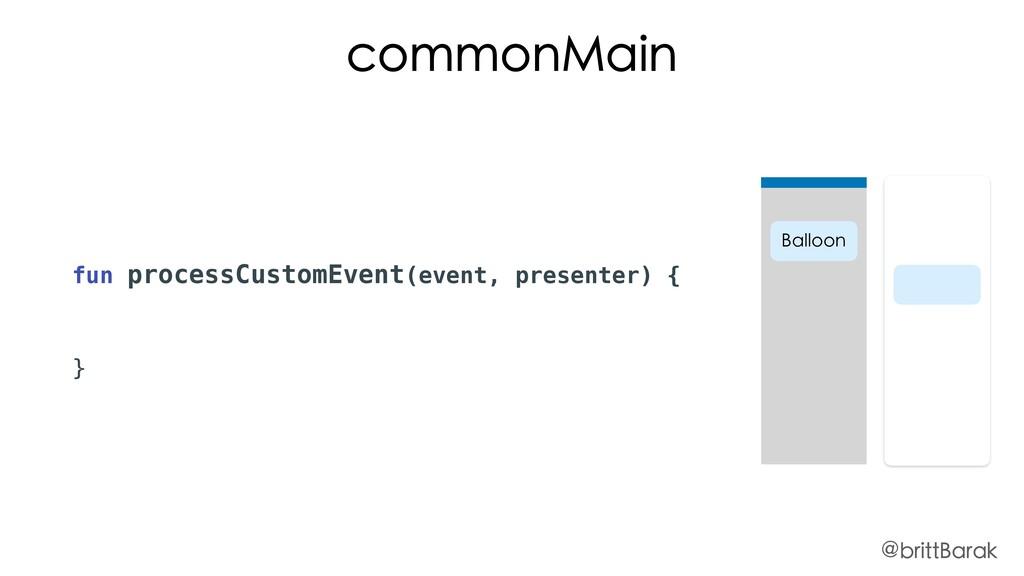 fun processCustomEvent(event, presenter) { } co...