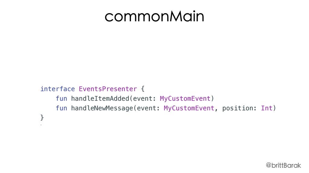 interface EventsPresenter { fun handleItemAdded...