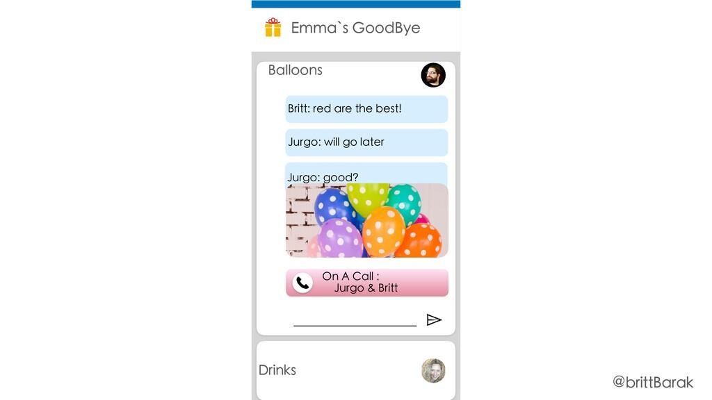 Drinks Emma`s GoodBye Balloons On A Call : Jurg...