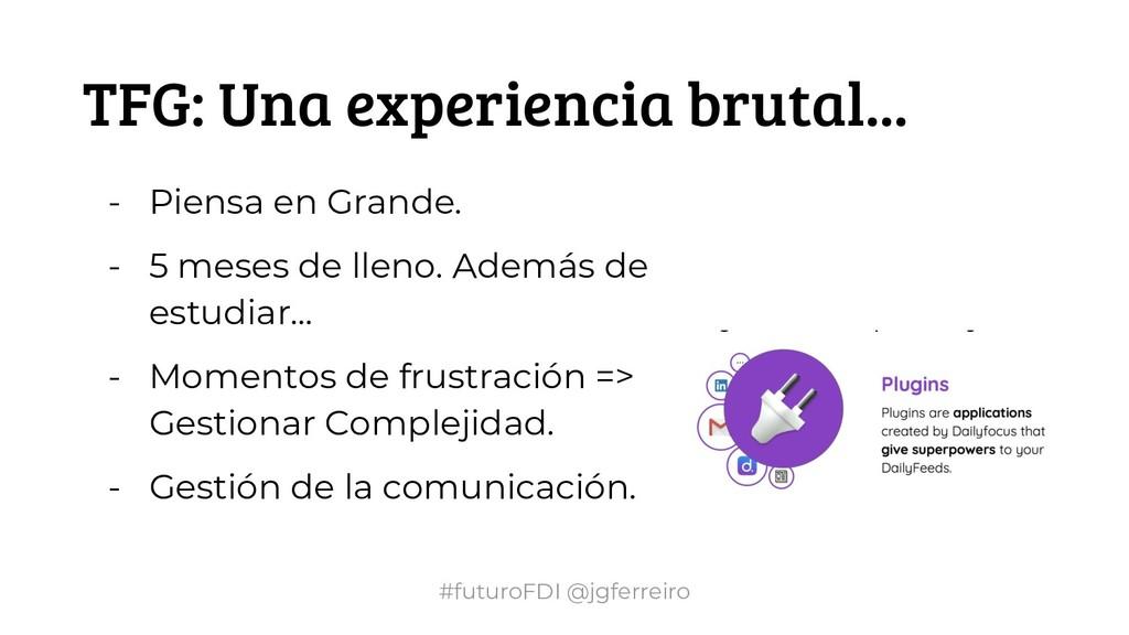 #futuroFDI @jgferreiro TFG: Una experiencia bru...