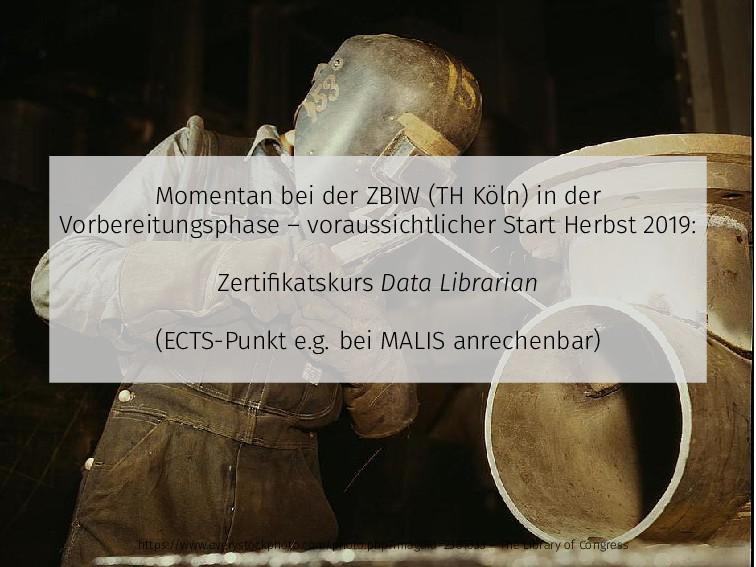 Momentan bei der ZBIW (TH Köln) in der Vorberei...