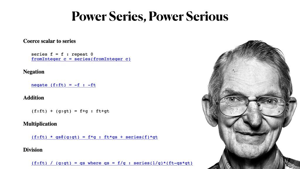 Power Series, Power Serious
