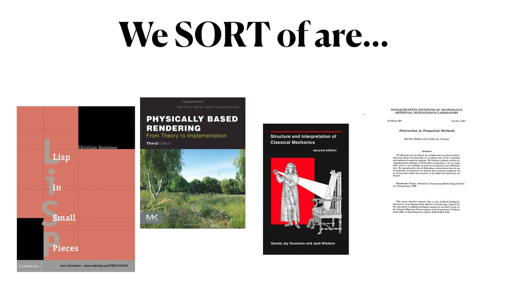 We SORT of are…