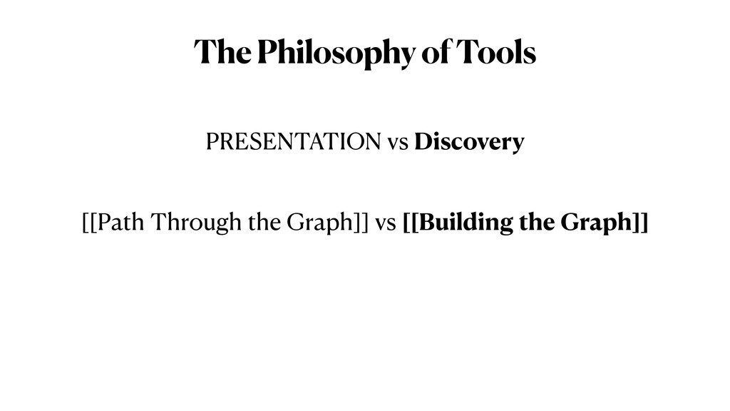 The Philosophy of Tools PRESENTATION vs Discove...