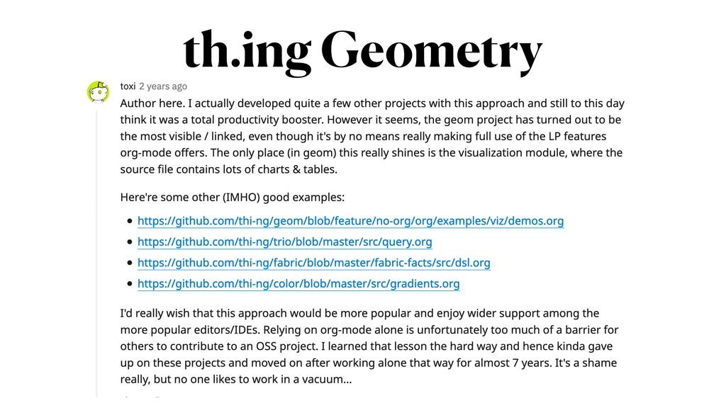 th.ing Geometry