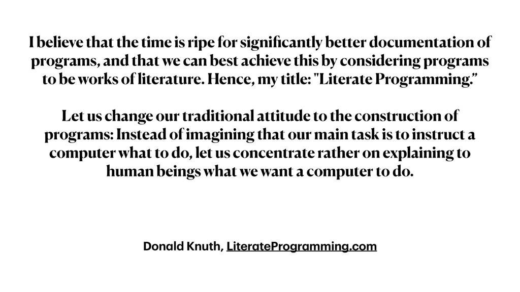 Don a ld Knuth, Liter a teProgr a mming.com I b...