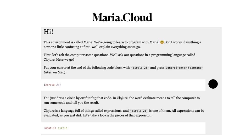Maria.Cloud