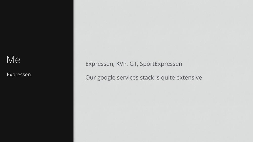 Expressen Me Expressen, KVP, GT, SportExpressen...