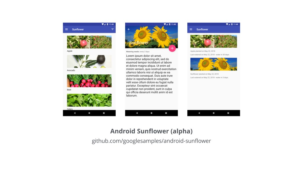 Android Sunflower (alpha) github.com/googlesampl...