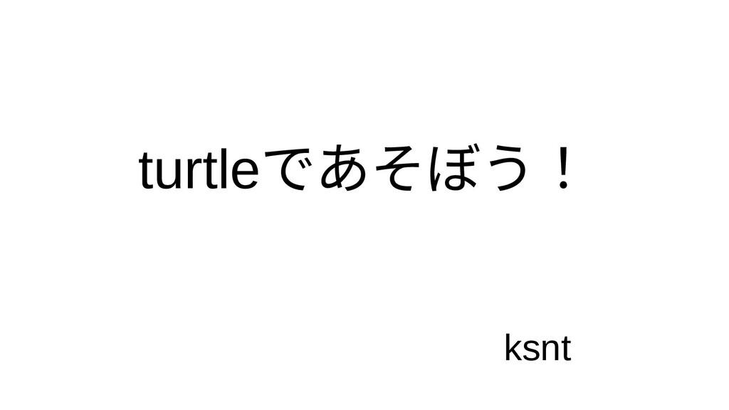 turtleであそぼう! ksnt