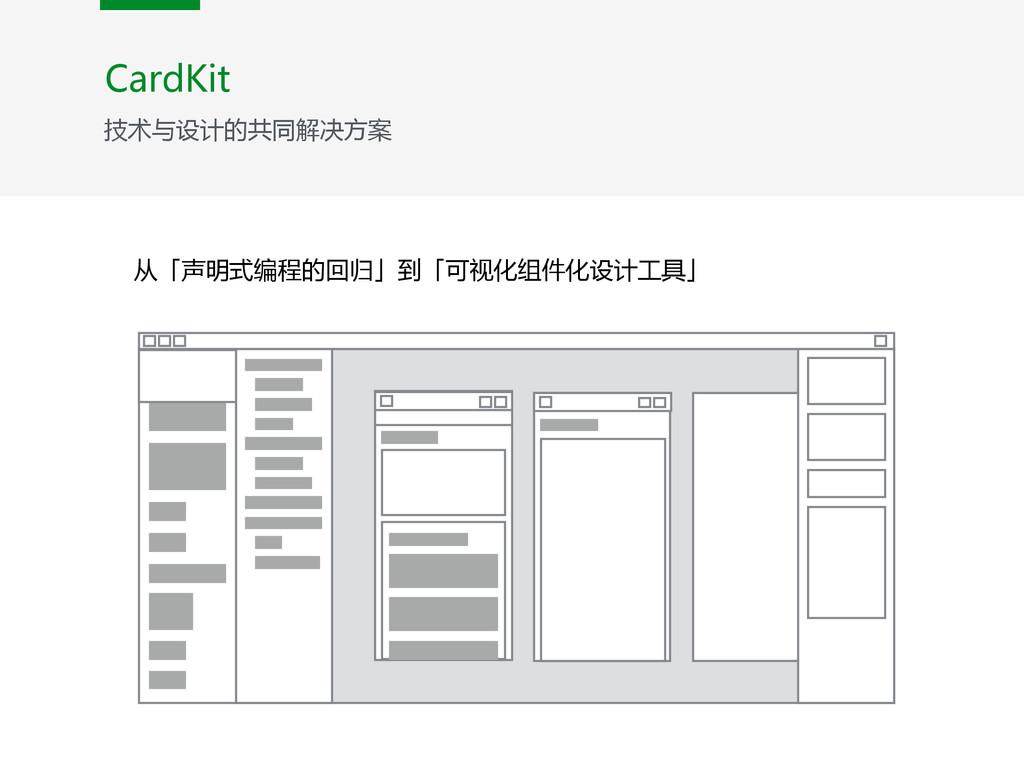 从「声明式编程的回归」到「可视化组件化设计工具」 CardKit 技术与设计的共同解决方案