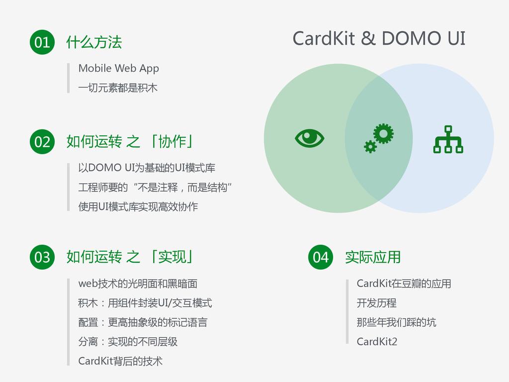 什么方法 01 • Mobile Web App  • 一切元素都是积木 如何运转...