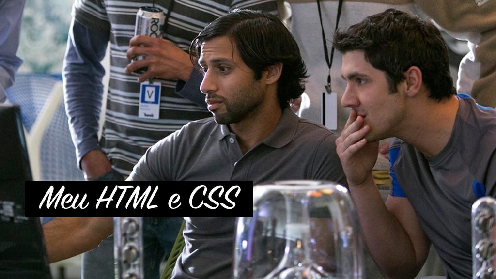 Meu HTML e CSS