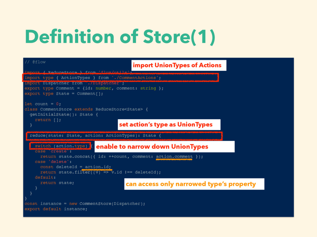 Definition of Store(1) // @flow import { ReduceS...
