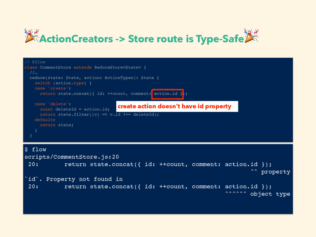 ActionCreators -> Store route is Type-Safe  //...