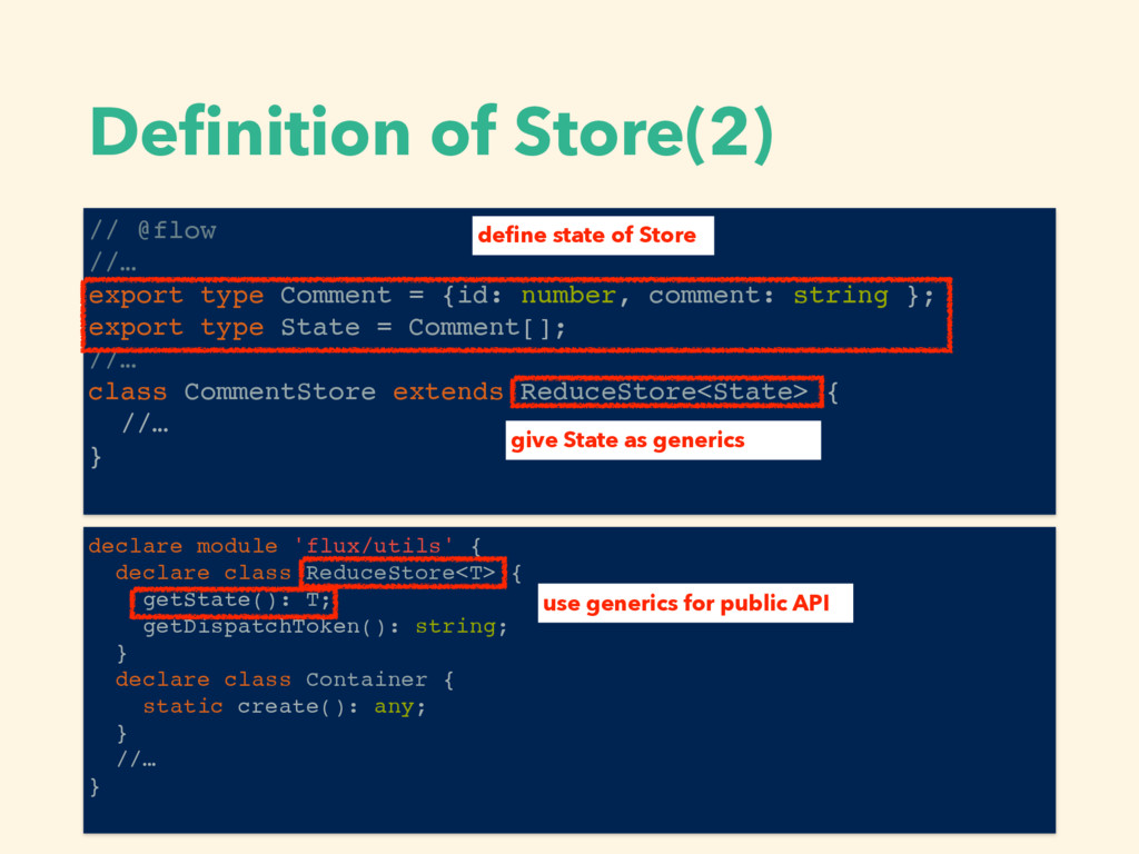 Definition of Store(2) // @flow //… export type ...