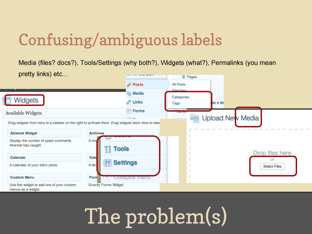 The problem(s) Confusing/ambiguous labels Media...