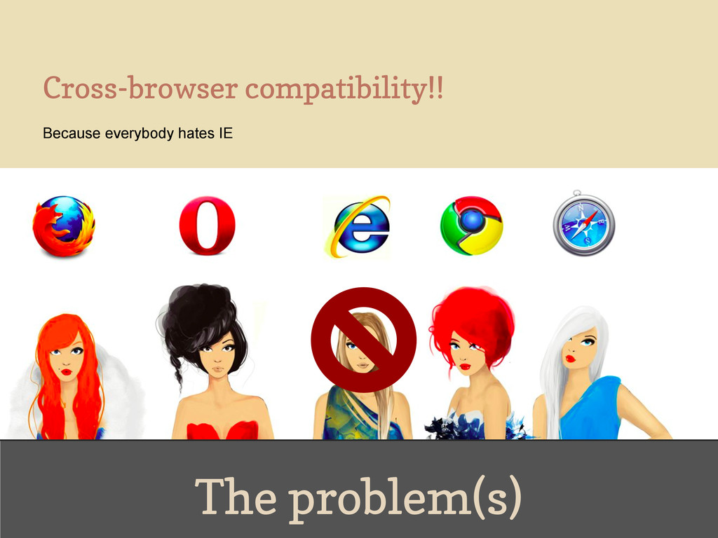 The problem(s) Cross-browser compatibility!! Be...