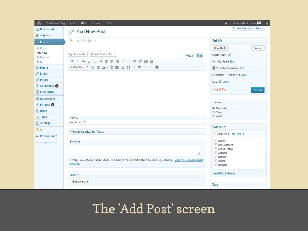 The 'Add Post' screen