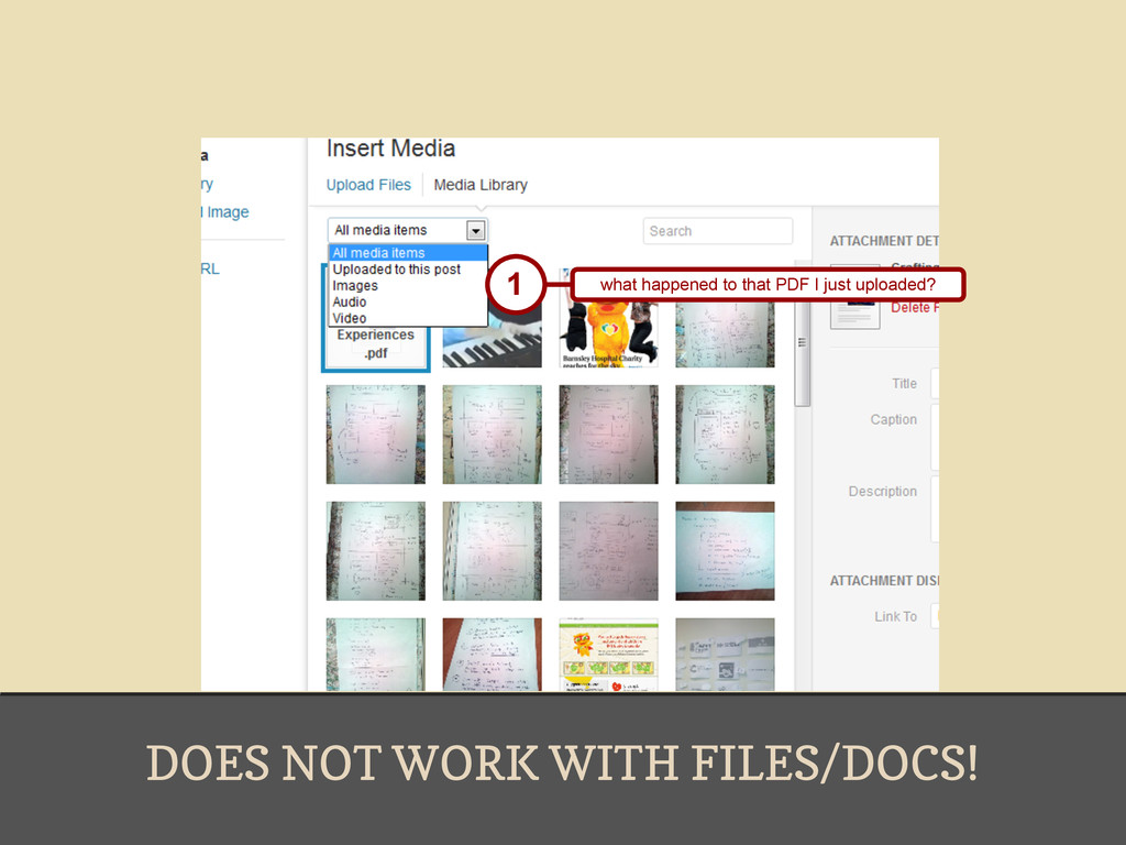 DOES NOT WORK WITH FILES/DOCS! 1 what happened ...