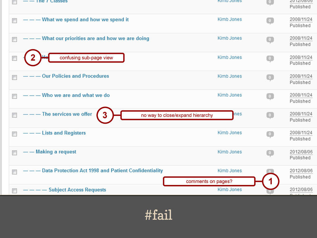#fail 2 confusing sub-page view 1 comments on p...