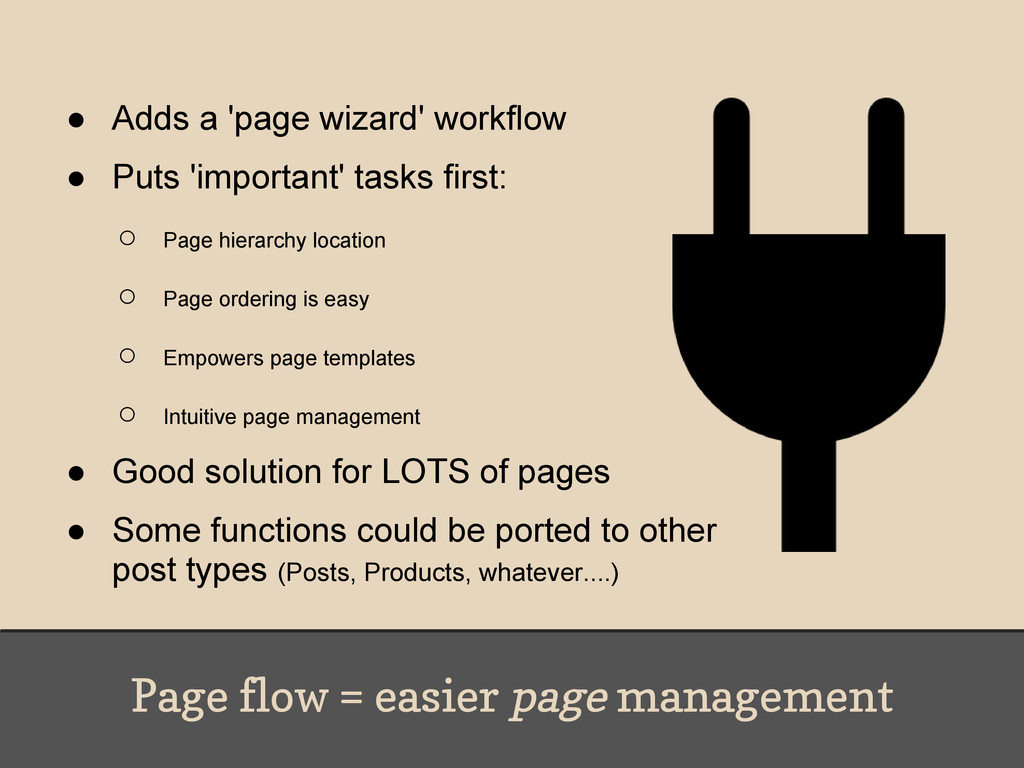 Page flow = easier page management ● Adds a 'pa...