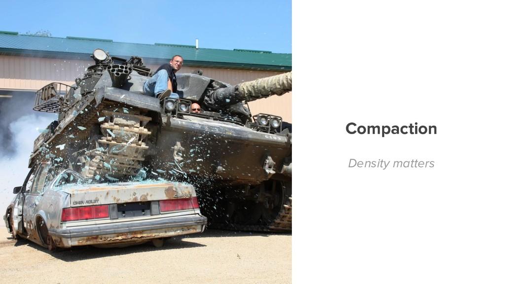 Compaction Density matters