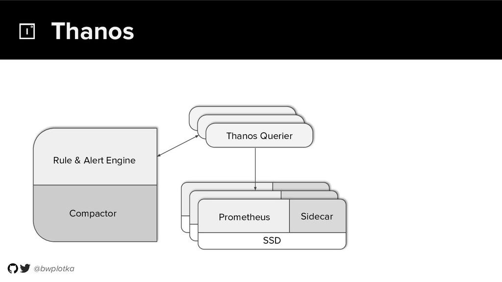 @bwplotka Thanos Compactor Rule & Alert Engine ...