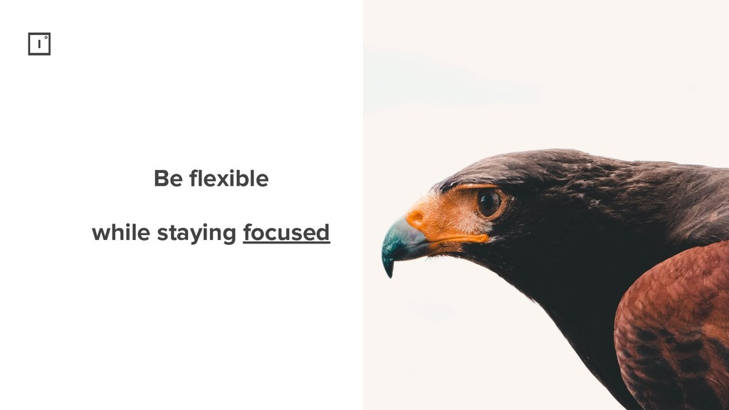 Be flexible while staying focused
