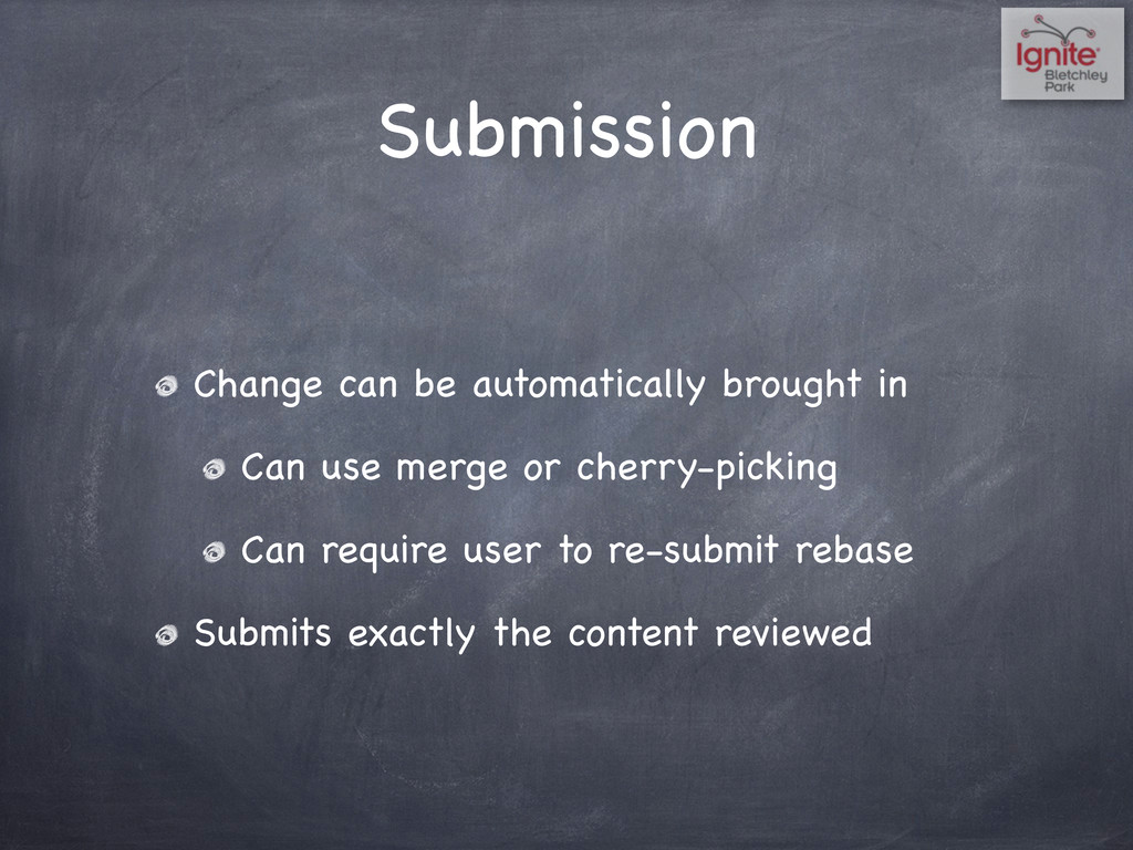 Submission Change can be automatically brought ...
