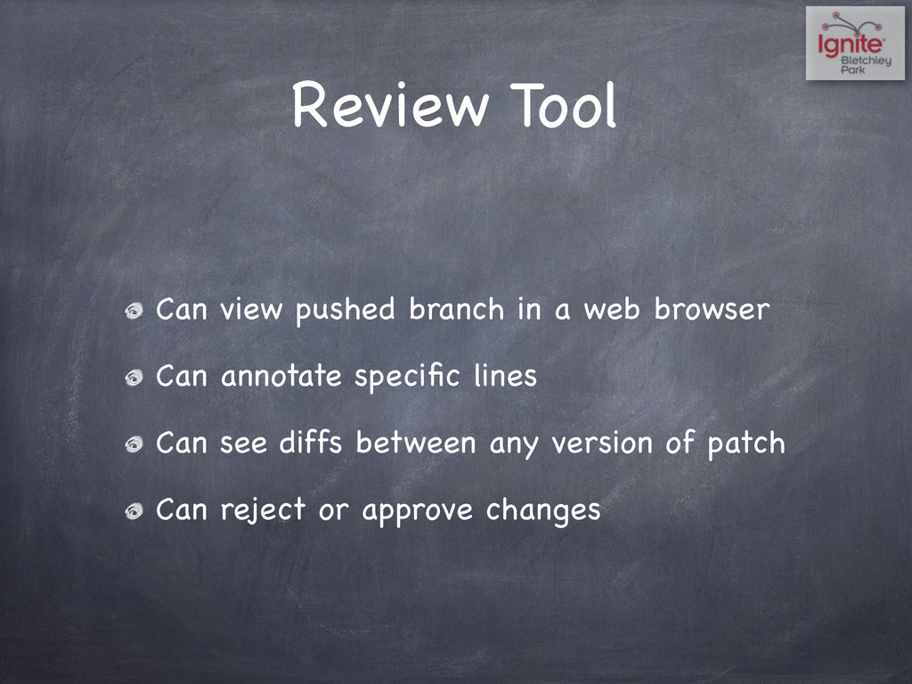 Review Tool Can view pushed branch in a web bro...