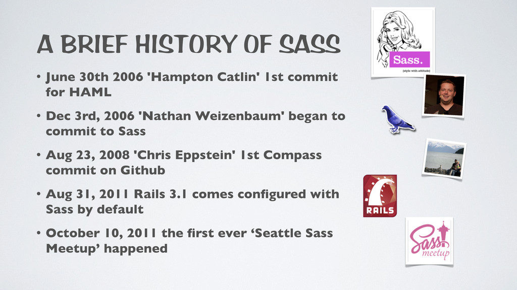 A BRIEF HISTORY OF SASS • June 30th 2006 'Hampt...