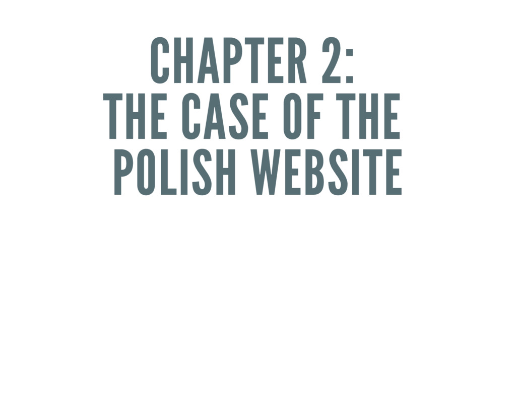 CHAPTER 2: THE CASE OF THE POLISH WEBSITE