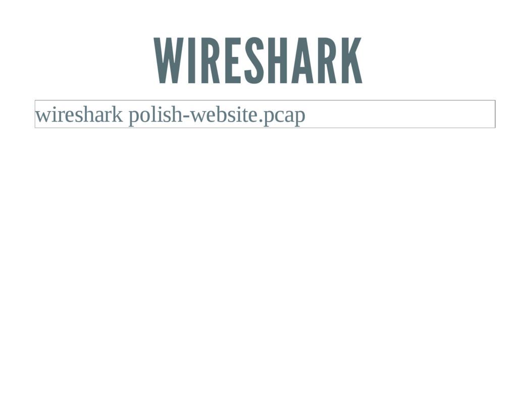 WIRESHARK wireshark polishwebsite.pcap