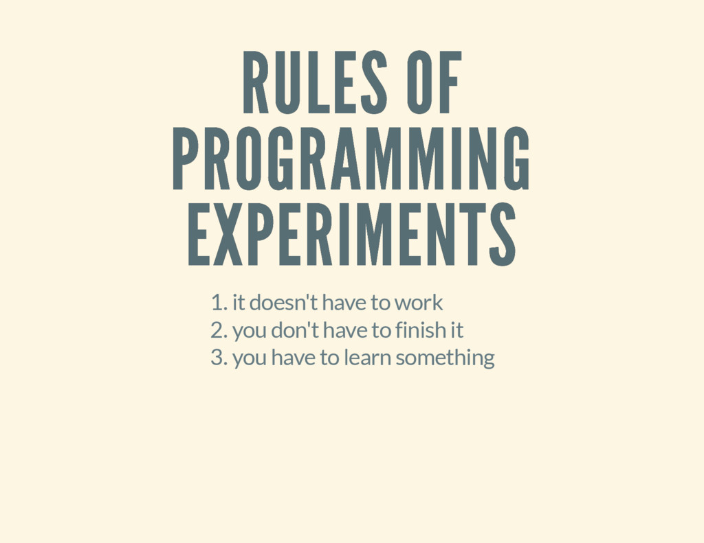 RULES OF RULES OF PROGRAMMING PROGRAMMING EXPER...