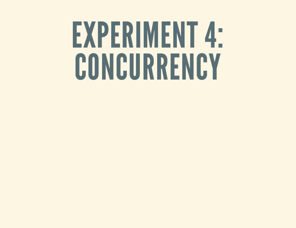 EXPERIMENT 4: EXPERIMENT 4: CONCURRENCY CONCURR...